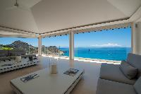 cool veranda of Saint Barth Luxury Villa Gouverneur Estate holiday home, vacation rental