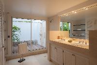 elegant bathroom in Saint Barth Luxury Villa Gouverneur Estate holiday home, vacation rental