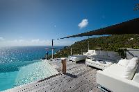cool terrace of Saint Barth Luxury Villa Gouverneur Estate holiday home, vacation rental