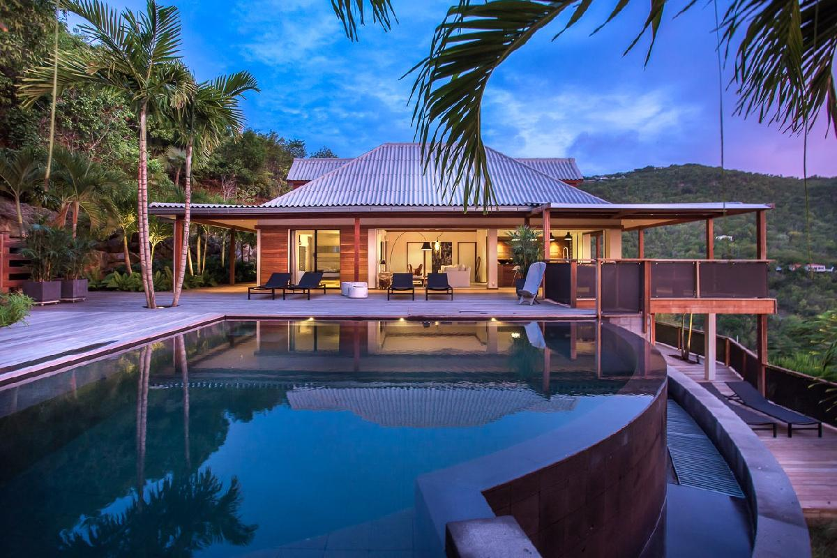 magnificent Saint Barth Villa Apache luxury holiday home, vacation rental