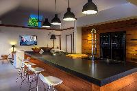 cool modern kitchen of Saint Barth Villa Apache luxury holiday home, vacation rental