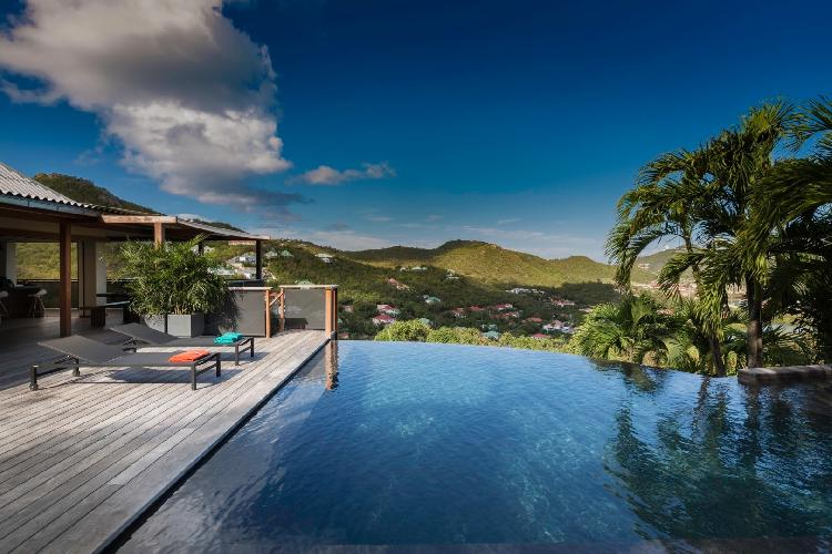 cool pool of Saint Barth Villa Apache luxury holiday home, vacation rental