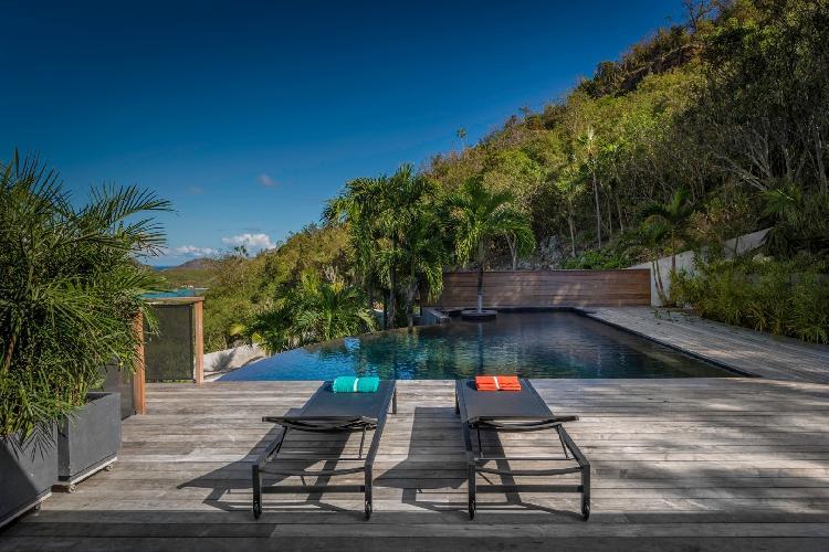 cool deck of Saint Barth Villa Apache luxury holiday home, vacation rental