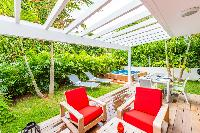 beautiful garden of Saint Barth Luxury Villa Florelien holiday home, vacation rental