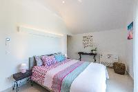 clean bedroom linens in Saint Barth Luxury Villa Florelien holiday home, vacation rental