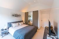 pristine bedding in Saint Barth Luxury Villa Florelien holiday home, vacation rental