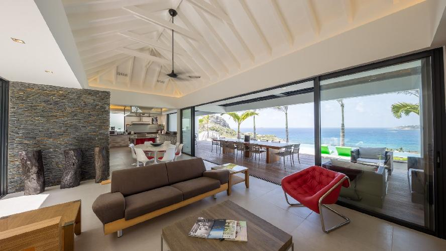 pleasant living room of Saint Barth Villa Grace holiday home, vacation rental