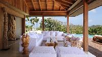 beautiful lanai of Saint Barth Villa Ixfalia luxury holiday home, vacation rental