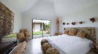 fresh bedroom linens in Saint Barth Villa Ixfalia luxury holiday home, vacation rental
