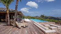 cool swimming pool of Saint Barth Villa Ixfalia luxury holiday home, vacation rental