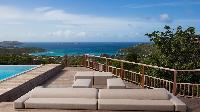 amazing poolside dech of Saint Barth Villa Ixfalia luxury holiday home, vacation rental