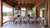 cool dining area in Saint Barth Villa Ixfalia luxury holiday home, vacation rental