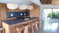 cool breakfast bar of Saint Barth Villa Ixfalia luxury holiday home, vacation rental