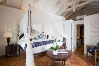 clean bedroom linens in Saint Barth Luxury Villa Cocoland holiday home, vacation rental