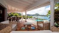 cool lanai of Saint Barth Luxury Villa Cocoland holiday home, vacation rental