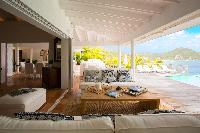 cool patio of Saint Barth Luxury Villa Cocoland holiday home, vacation rental