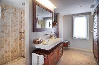 clean bathroom in Saint Barth Villa Rose Des Vents holiday home, luxury vacation rental