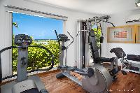 cool gym of Saint Barth Villa Rose Des Vents holiday home, luxury vacation rental