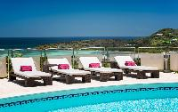 neat sun loungers at Saint Barth Villa Rose Des Vents holiday home, luxury vacation rental