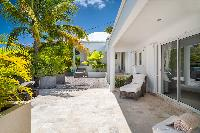 cool patio of Saint Barth Villa Rose Des Vents holiday home, luxury vacation rental