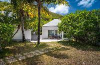 pretty garden of Saint Barth Villa Rose Des Vents holiday home, luxury vacation rental