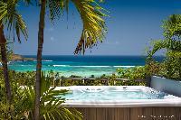 cool hot tub of Saint Barth Villa Rose Des Vents holiday home, luxury vacation rental