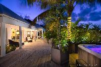 cool lanai of Saint Barth Villa Rose Des Vents holiday home, luxury vacation rental