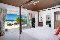 clean bed sheets in Saint Barth Villa Rose Des Vents holiday home, luxury vacation rental