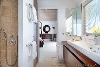 spic-and-span bathroom in Saint Barth Villa Rose Des Vents holiday home, luxury vacation rental