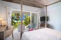 clean bedroom linens in Saint Barth Villa Rose Des Vents holiday home, luxury vacation rental