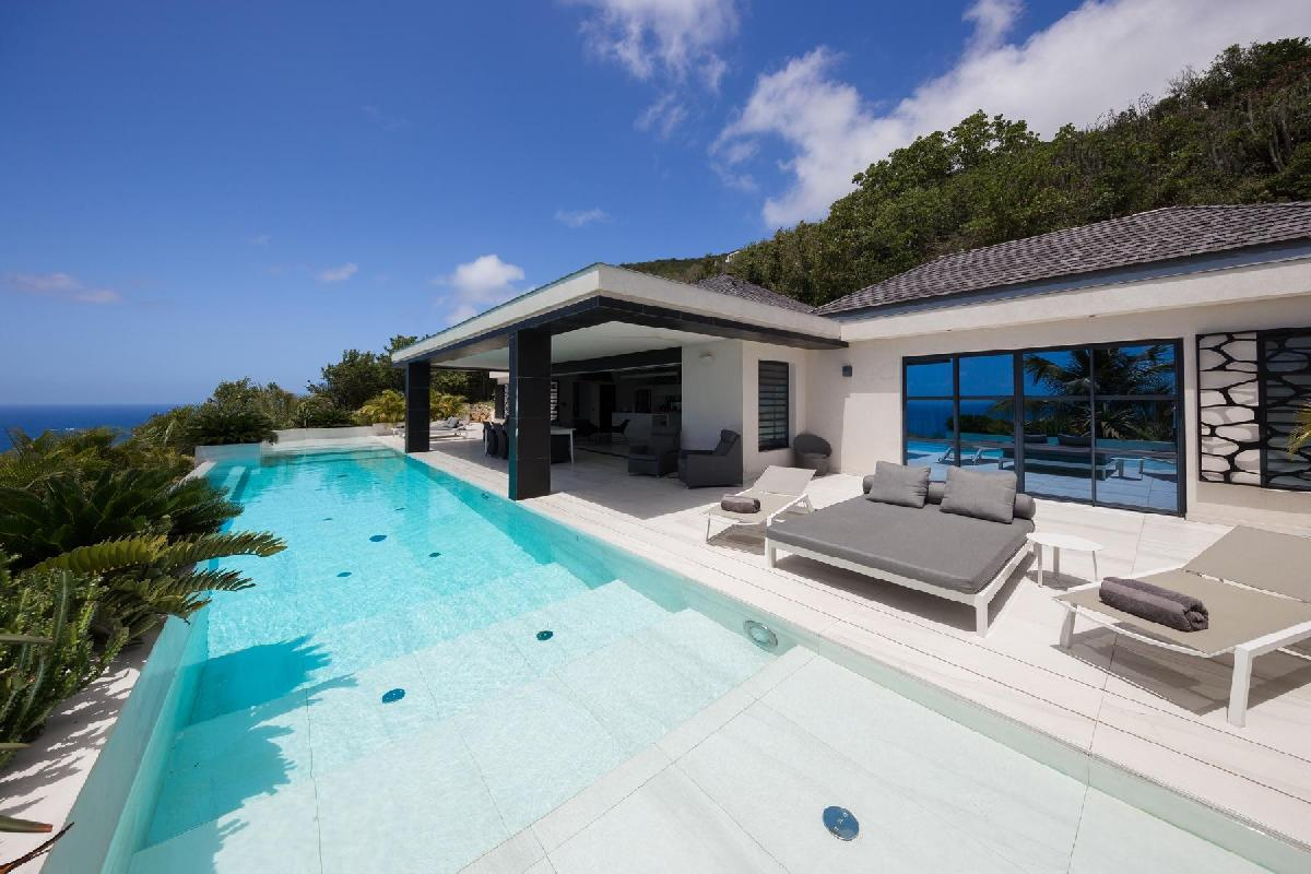 splendid Saint Barth Villa Rose Dog Estate holiday home, luxury vacation rental