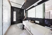 spic-and-span bathroom in Saint Barth Villa Rose Dog Estate holiday home, luxury vacation rental