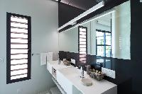 neat lavatory in Saint Barth Villa Rose Dog Estate holiday home, luxury vacation rental