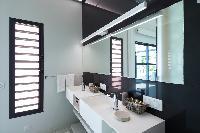 neat lavatory in Saint Barth Villa Rose Dog Estate holiday home, luxury vacation rental