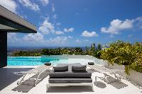 fantastic sea view from Saint Barth Villa Rose Dog Estate holiday home, luxury vacation rental