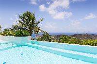 beautiful view from Saint Barth Villa Rose Dog Estate holiday home, luxury vacation rental