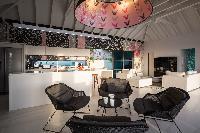 cool kitchen of Saint Barth Villa Rose Dog Estate holiday home, luxury vacation rental