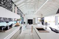 modern kitchen appliances in Saint Barth Villa Rose Dog Estate holiday home, luxury vacation rental