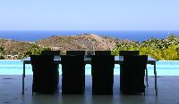 astonishing sea view from Saint Barth Villa Rose Dog Estate holiday home, luxury vacation rental