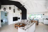 cool living room of Saint Barth Villa Rose Dog Estate holiday home, luxury vacation rental