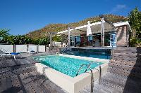 relaxing pool of Saint Barth Villa Rose Dog Estate holiday home, luxury vacation rental