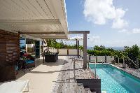 invigorating pool of Saint Barth Villa Rose Dog Estate holiday home, luxury vacation rental