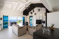 cool sitting area in Saint Barth Villa Rose Dog Estate holiday home, luxury vacation rental