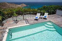 cool swimming pool of Saint Barth Villa Rose Dog Estate holiday home, luxury vacation rental