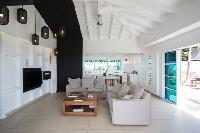 incredible ceiling of Saint Barth Villa Rose Dog Estate holiday home, luxury vacation rental