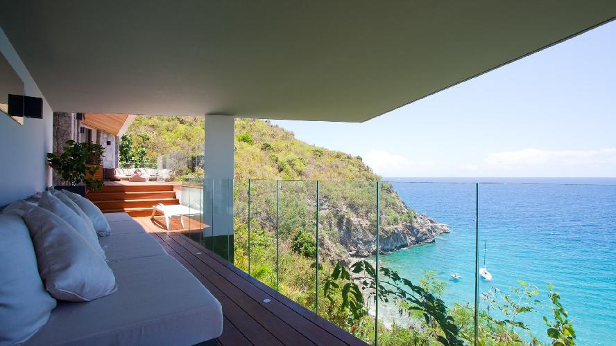 beautiful sea view from Saint Barth Villa Vitti luxury holiday home, vacation rental