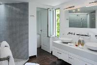 clean lavatory in Saint Barth Villa Wastra luxury holiday home, vacation rental