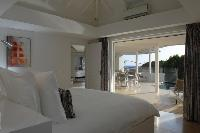 fresh bedroom linens in Saint Barth Villa Wastra luxury holiday home, vacation rental