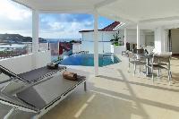cool lanai of Saint Barth Villa Wastra luxury holiday home, vacation rental