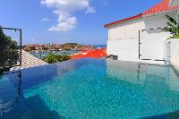 cool swimming pool of Saint Barth Villa Wastra luxury holiday home, vacation rental